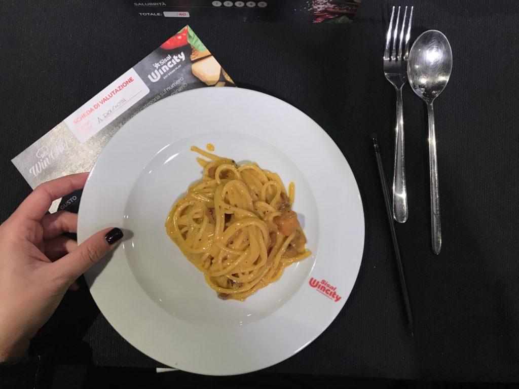 Chef Andre Dolciotti carbonara