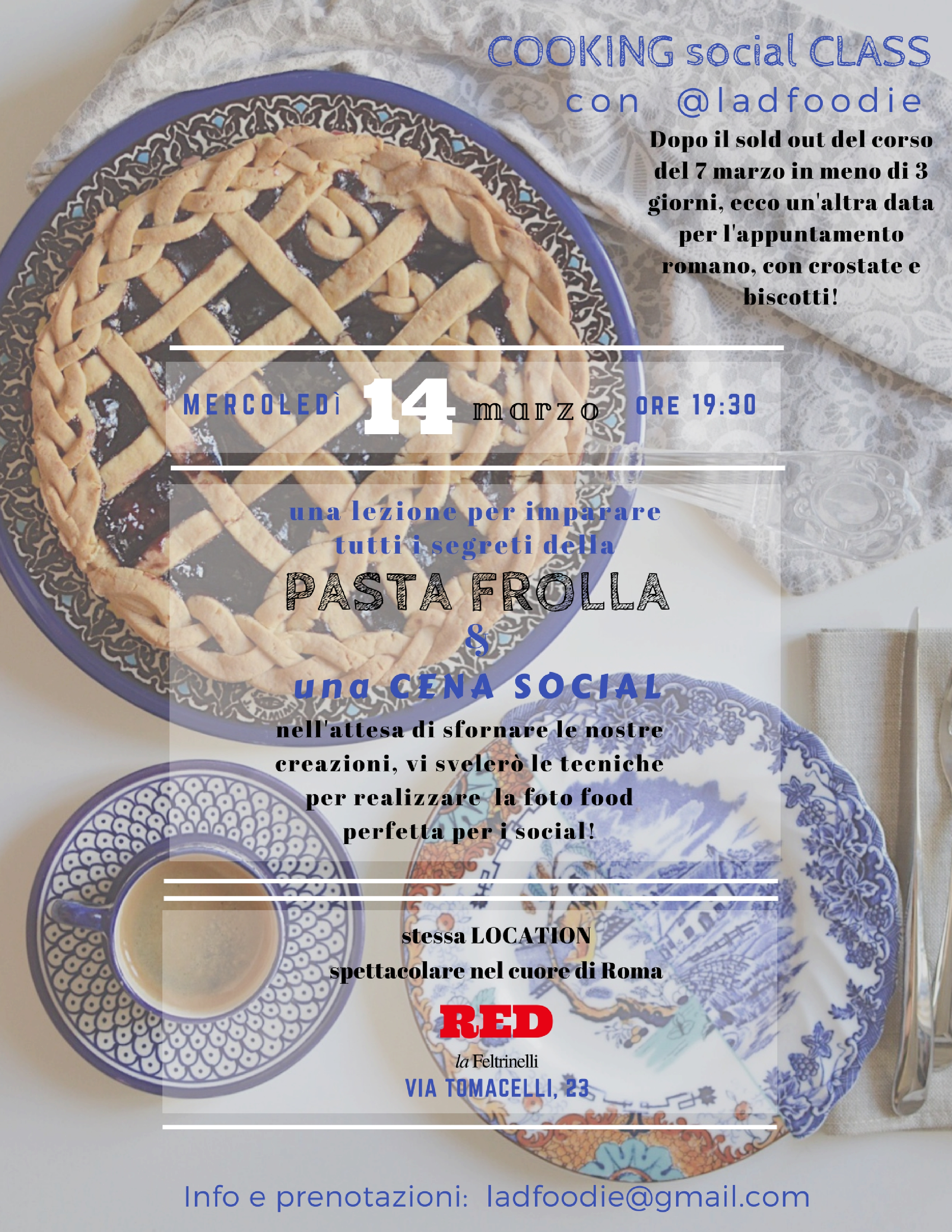 terza data cooking class red roma