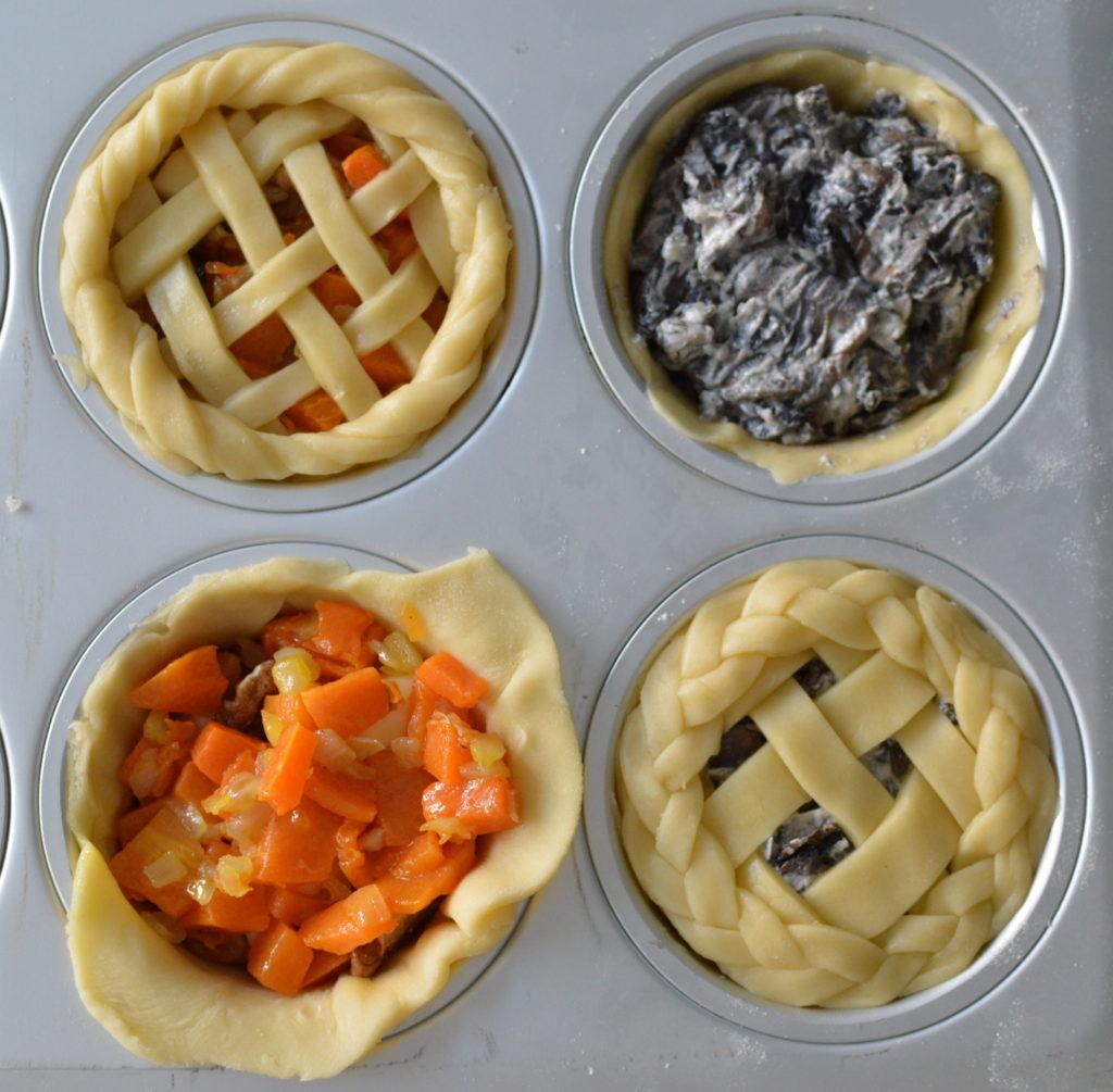 mini pies salate zucca funghi