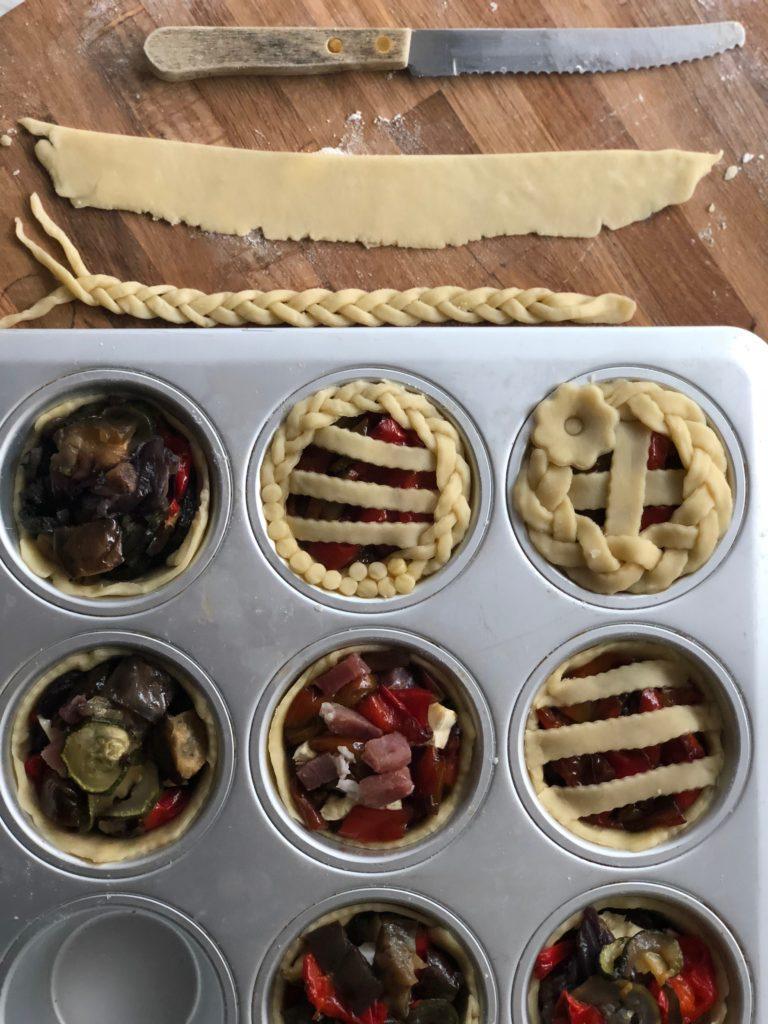 mini pies salate con verdure