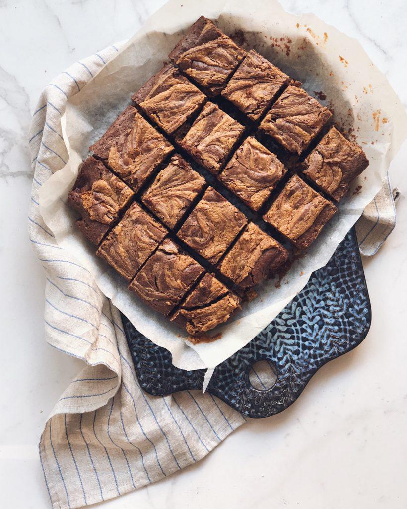 brownies marmorizzati burro d'arachidi