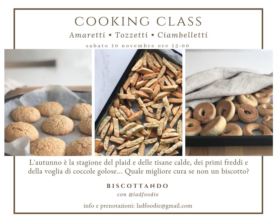 COOKING CLASS AMARETTI CANTUCCI E CIAMBELLETTI