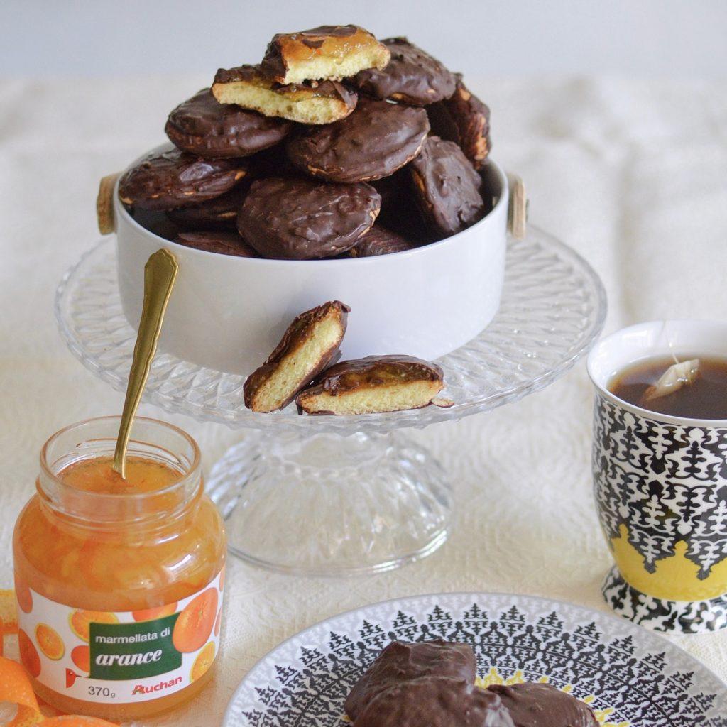 gli aranciocchi biscotti arancia e cioccolato