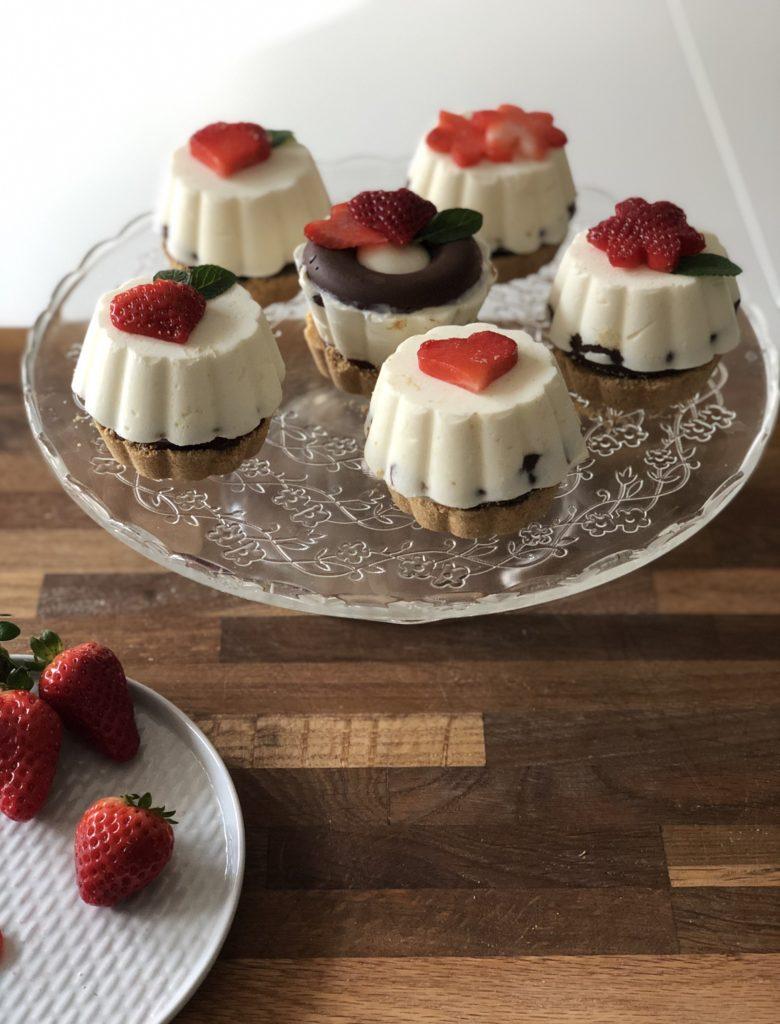 choco fragola cheesecake