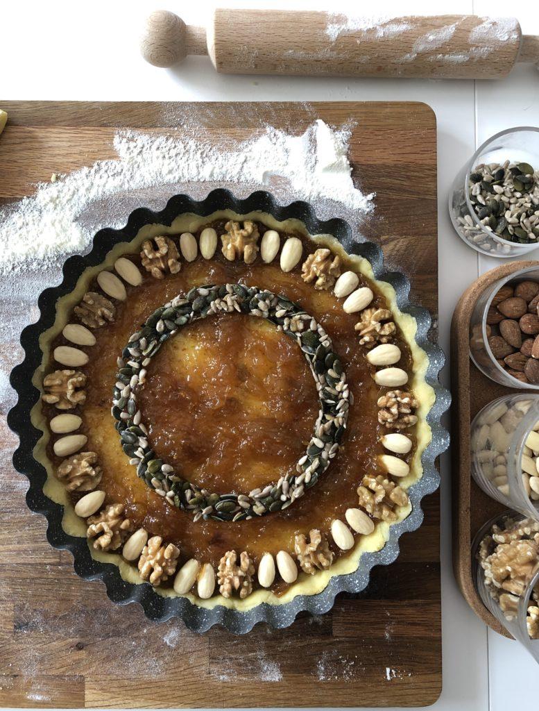 crostata confettura di fichi e frutta secca