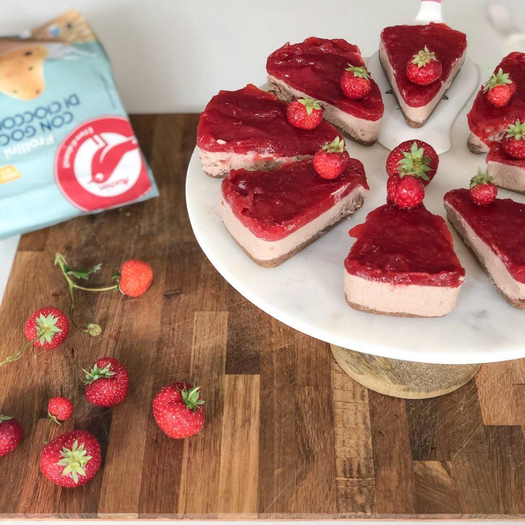 mini cheesecakes fragolose