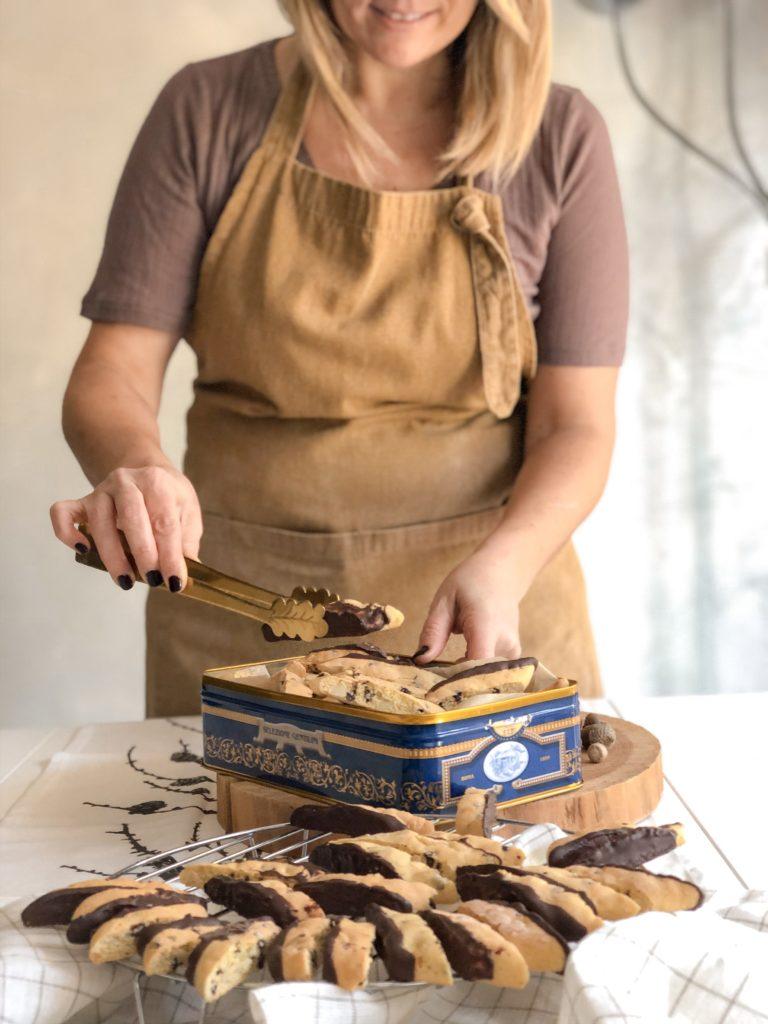 biscotti  mandorle arancia e cioccolato