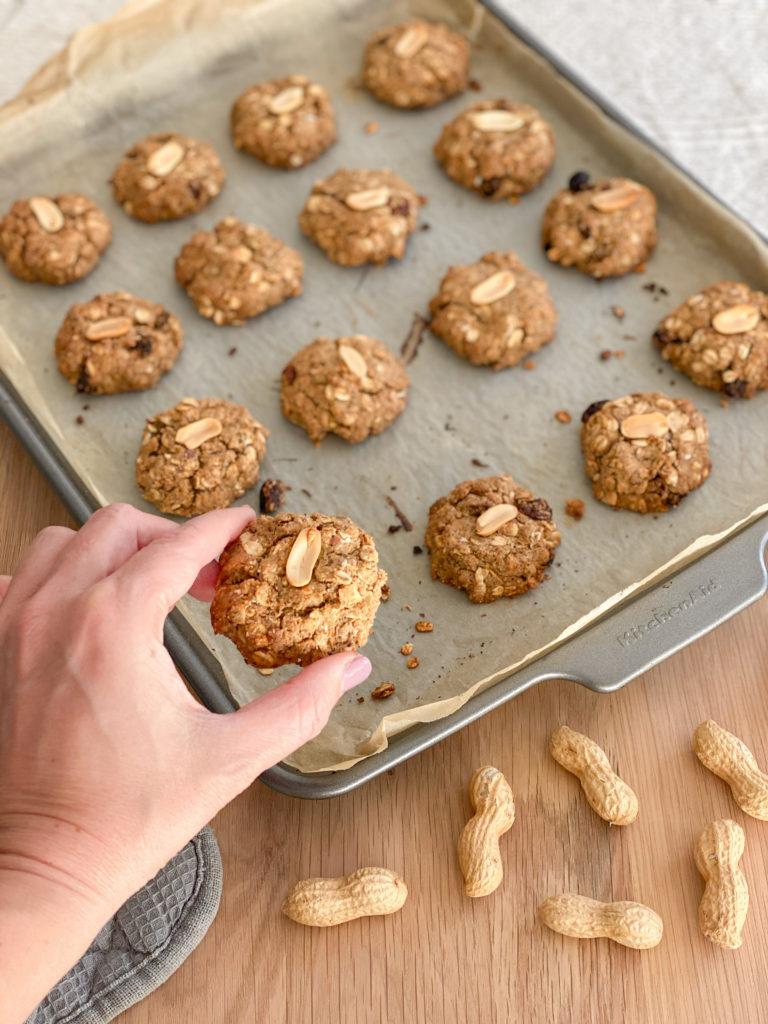 biscotti avena e burro d'arachidi