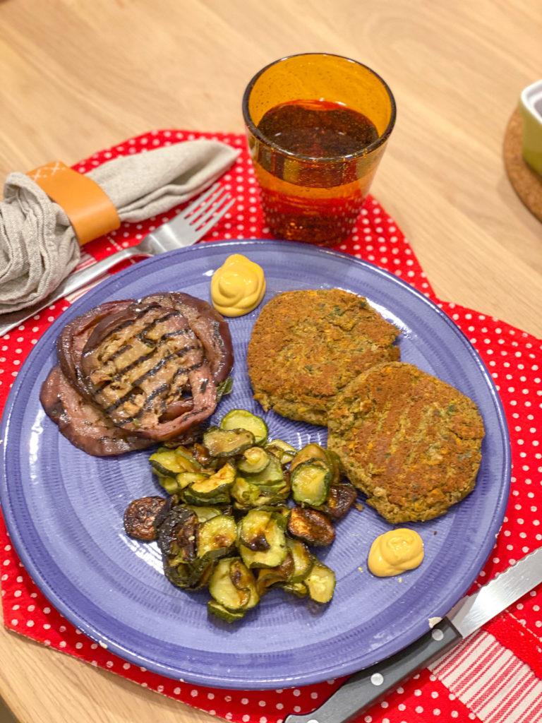 falafel e hamburger di lenticchie